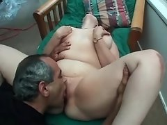Lustful chubby girl enjoys oral sex