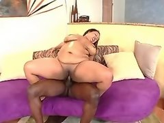 Black fatty fucks and gets cumload