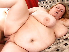 This massive BBW babe get fuck tough and suck cock in here!