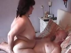 Ardent fat mature rides strong cock
