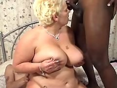 Chubby slut gets cum on big boobs